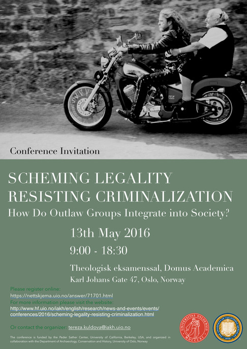 Scheming Legality - Resisting Criminalization (Conference 13-05-2016, Oslo)