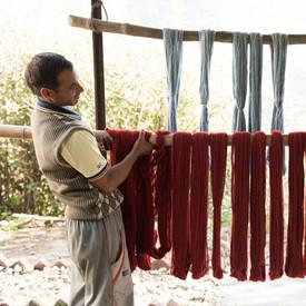 yarns drying in the sun