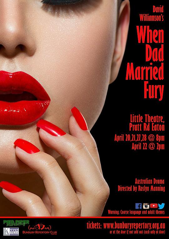 David Williamsons' When Dad Married Fury artwork for Bunbury Repertory club