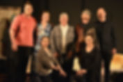 Cast of the stage show 'Shadows' written by Josephine Carter ad directed by Fransciena Draper.  Performed by the Bunbury Repertory Club in June 2018