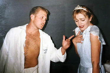 Actors in  performance of A Streetcar named Desire in 1995 by the Bunbur Repertory Club.