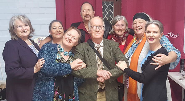 Actors performed in Anzac Biscuits in the Madwomen show in June 2018 by Bunbury Repertory Club. Directed by Ann Silver and written by John Mawson and Rob Smith.