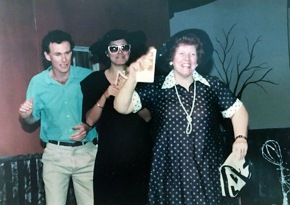 Actors in a performance of The Hope in 1989 at the Bunbury Rerpertoy Club