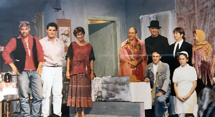 Actors in a performance od A Streetcar named Desire in 1995 by the Bunbuy Repertory Club