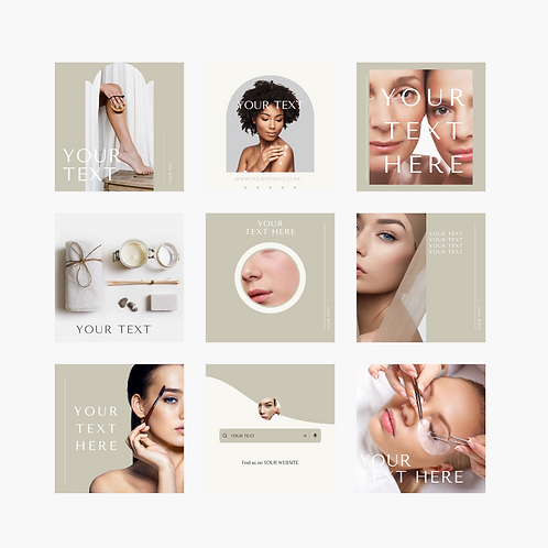 Social Media Template   Beauty, Spa, Skincare