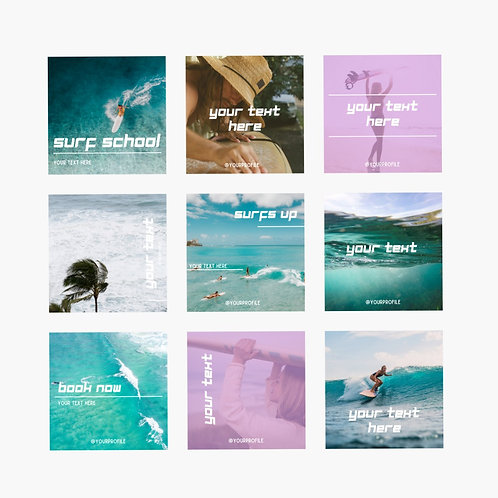Social Media Template   SURF culture