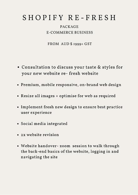 Shopify Web Design for e-commerce busine