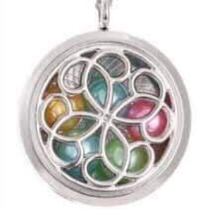 L9 Silver Plated Loop 4 Circular Locket