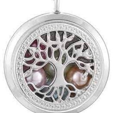 L19 Silver Plated Tree of LIfe Locket