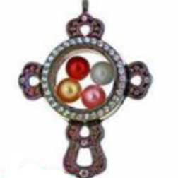 L32 Rainbow Cross Locket