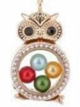 L37 Gold Owl Locket