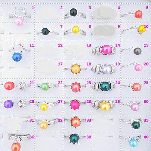 PreMounted Pearl Rings