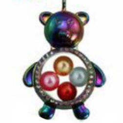 L33 Rainbow Teddy Bear Locket