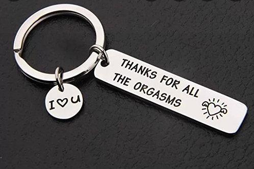 Orgasm Key chain