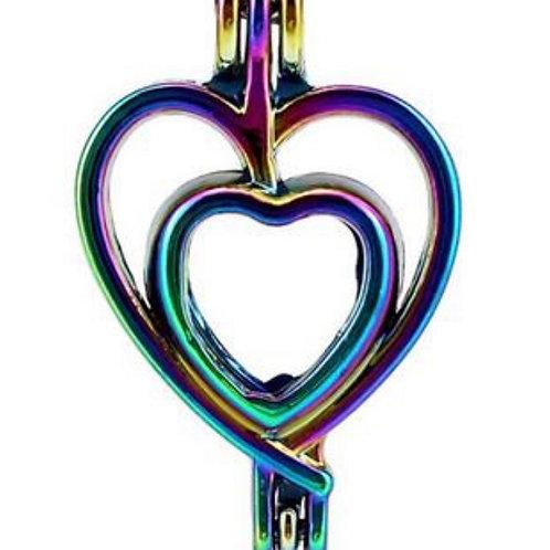 Rainbow Double Heart