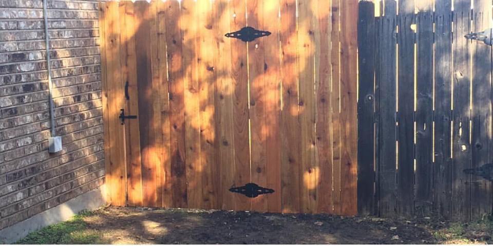 fence door by ametex roofing waco texas