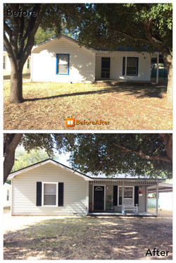 Before and After Paint ametex roofing waco texas