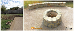 Before and After Fire Pit ametex roofing waco texas