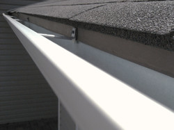 aluminum gutter connected ametex roofing waco texas