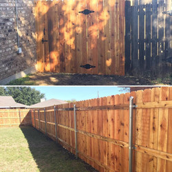 finish fence actual view by ametex roofing waco texas