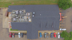 Golden Corral aerial view ametex roofing waco texas