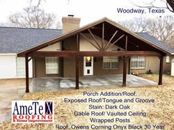 Porch repair by ametex roofing waco texas