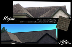 Roof Before and After ametex roofing waco texas