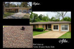 Before and After Roof Property ametex roofing waco texas