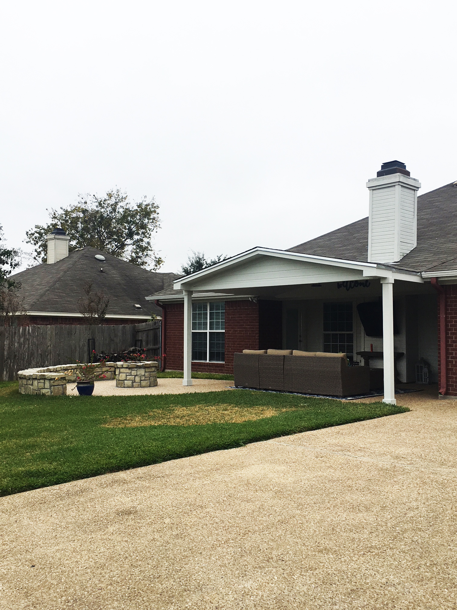 Small Gabe Porch ametex roofing waco texas
