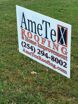 AmeTex Roofing Yard Sign