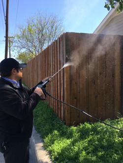 Power Washig Fence ametex roofing waco texas