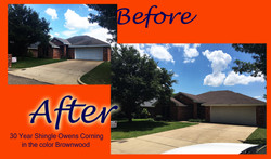 AmeTex Roofing before and after ametex roofing waco texas