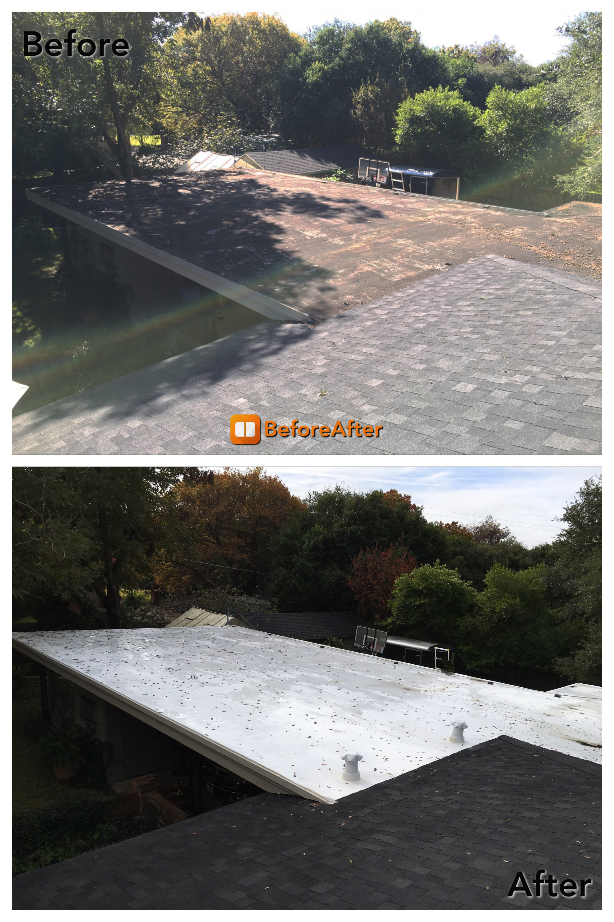 Roof Before and After 2