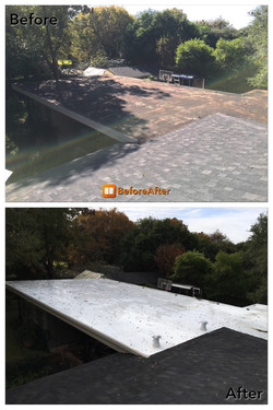 Roof job Before and After ametex roofing waco texas