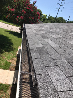 Screen Gutters After by ametex roofing waco texas