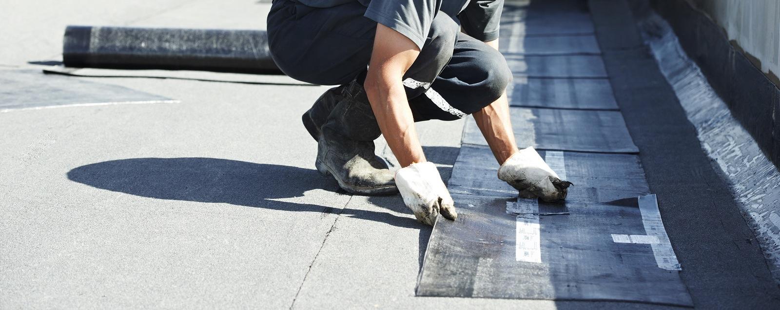 ametex technician doing some roof repair ametex roofing waco texas