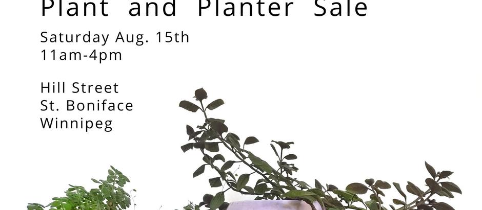 Plant & *handmade* Planter Sale