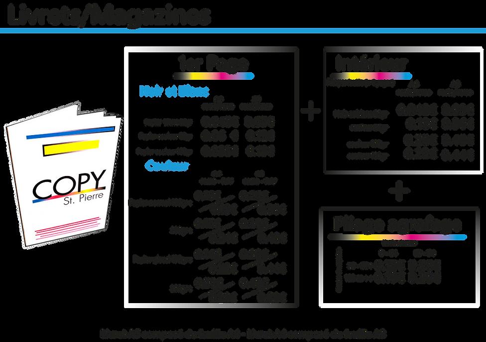 Tarif livret magazines   Saint Pierre