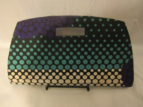 Clutch purse purple, jade, , black and white