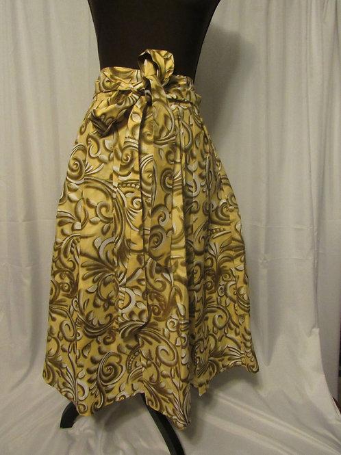 Ankara Skirt, Cute Brown, white, Black