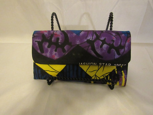 Wallet, purple, black and yellow