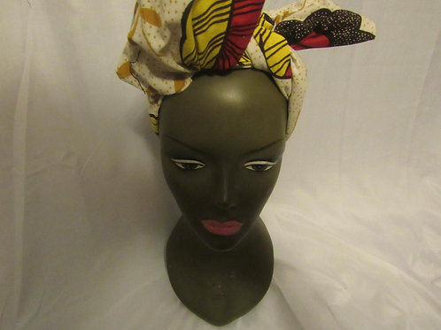 Headwrap, Hairbow Cream, red and yellow