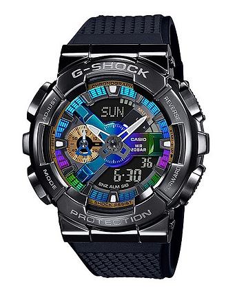 GM-110B-1ADR G-Shock Multi-coloured rainbow dial