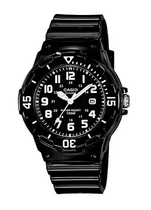 LRW200H-1B Casio Ladies - Small All Black Timing Bezel Analog