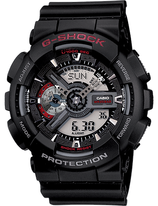 GA-110-1ADR - G-SHOCK Black with Red Accents X-Large Duo/Chrono
