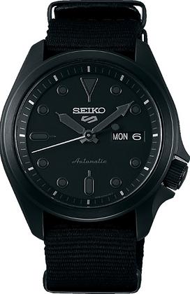 SRPE69K Seiko 5 Sports - All black - Nylon Strap