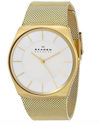 "SKW6069 SKAGEN ""Havene"" Gold-Tone Stainless Steel Watch with Mesh Bracelet"