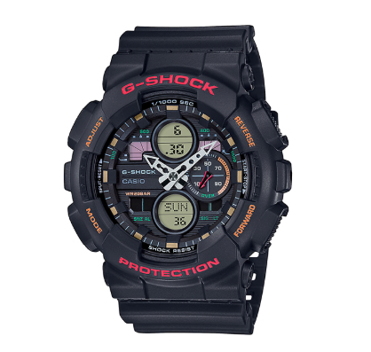 GA140-1A4 G SHOCK DUO RED LETTING