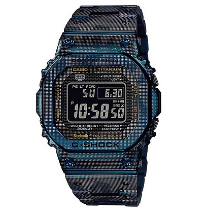 GMWB5000TCF-2D G-ShockTitanium with Blue IP Camouflage