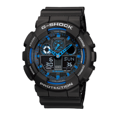 GA-100-1A2DR G-Shock Black and Blue Analogue and Digital